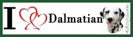 I LOVE Dalmatier Zwart OP=OP