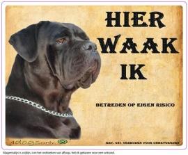 Wakbord Cane Corso zwart (04) (Nederlands). UITVERKOCHT