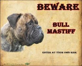 Waakbord Bull Mastiff (02) (Engels).