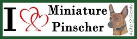 I LOVE Miniature Pinscher Red / Dwerg Pinscher Rood  UITVERKOCHT