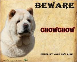 Waakbord Chow Chow Blond Kortharig UITVERKOCHT