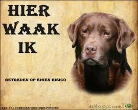 Waakbord Labrador Retriever Bruin OP=OP