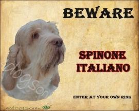 Waakbord Spinone Italiano oranje wit (Engels)  UITVERKOCHT