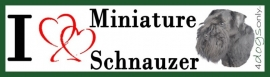 I LOVE Miniature Schnauzer Black / Dwerg Schnauzer Zwart OP=OP