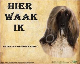 Waakbord Afgaanse Windhond (Nederlands)  UITVERKOCHT
