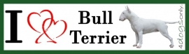 I LOVE Bull Terrier Wit Stand OP=OP