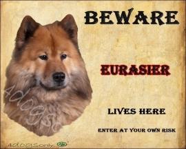 Waakbord Eurasier. Per set van 2 waakborden UITVERKOCHT
