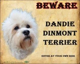Waakbord Dandie Dinmont Terrier OP=OP