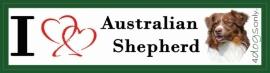I LOVE Australian Shepherd Bruin NIEUW OP=OP