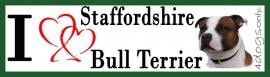 I LOVE English Staffordshire Bull Terrier Bont Rood OP=OP