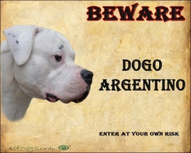 Waakbord Dogo Argentino / Argentijnse Dog. UITVERKOCHT