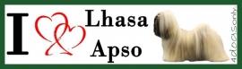 I LOVE Lhasa Apso (Lichaam) 01 UITVERKOCHT