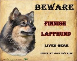Waakbord Finnish Lapphund  OP=OP