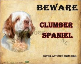 Waakbord Clumber Spaniel (Engels) per set van 2 waakborden