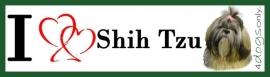 I LOVE Shih Tzu Bitch / Shih Tzu Teefje OP=OP