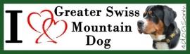 I LOVE Great Swiss Mountain Dog / Grote zwitserse Senner hond UITVERKOCHT
