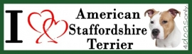 I LOVE American Staffordshire Bull Terrier Rood OP=OP