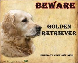 Waakbord Golden Retriever (Engels). OP=OP