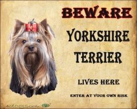 waakbord yorkshire terrier OP=OP