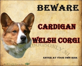 Waakbord Cardigan Welsh Corgi UITVERKOCHT