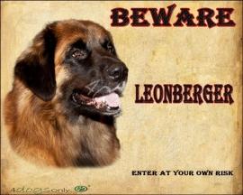 Waakbord Leonberger (Engels). Per set van 2 waakborden UITVERKOCHT
