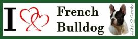I LOVE Franse Bulldog Zwart Bont OP=OP