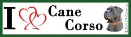 I LOVE Cane Corso Blauw OP=OP