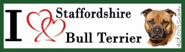 I LOVE English Staffordshire Bull Terrier Bruin OP=OP