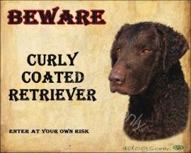 Waakbord Curly Coat Retriever Bruin (Engels) OP=OP