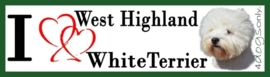 I LOVE West Highland White Terrier OP=OP