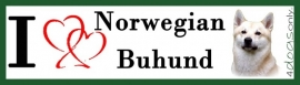 I LOVE Norwegian Buhund UITVERKOCHT