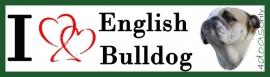 I LOVE English Bulldog UITVERKOCHT