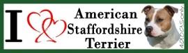 I LOVE American Staffordshire Bull Terrier Blue Fawn OP=OP