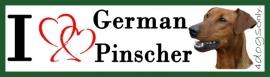 I LOVE German Pinscher Red / Duitse Pinscher Rood OP=OP