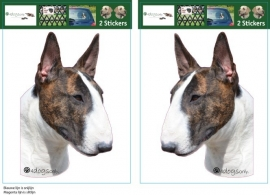 Bull Terrier Gestroomd setje 2 stuks UITVERKOCHT