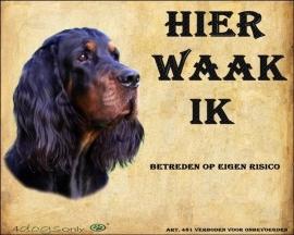 Waakbord Gordon Setter (Nederlands) (01) OP=OP