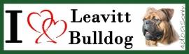 I LOVE Leavitt Bulldog Gestroomd OP=OP