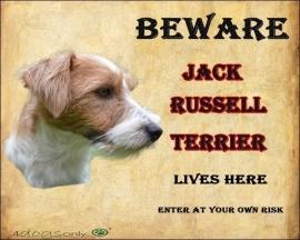 Waakbord Jack Russell Terrier Ruw Haar OP=OP