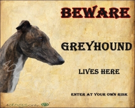 Waakbord Greyhound. OP=OP
