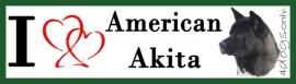 I LOVE American Akita Zwart UITVERKOCHT