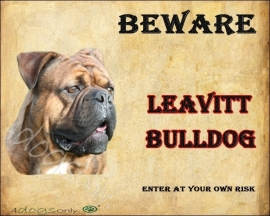 Waakbord Leavitt Bulldog Gestroomd. OP=OP