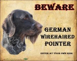 waakbord German Pointer Wirehaired UITVERKOCHT
