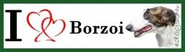 I LOVE Barzoi / Boizoi gestroomd NIEUW OP=OP