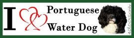 I LOVE Portoguese Water Dog Black & White/ Portugese Water Hond Zwart & Wit OP=OP