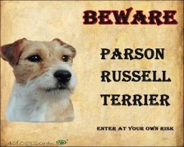 waakbord Parson Russell Terrier. Per set van 2 waakborden UITVERKOCHT