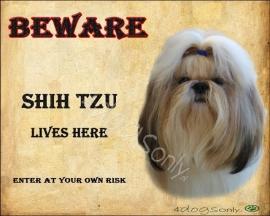 Waakbord Shih Tzu (Engels).