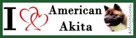 I LOVE American Akita UITVERKOCHT