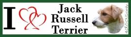 I LOVE Jack Russell Terrier Ruw Haar OP=OP