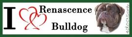 I LOVE Renascence Bulldog Gestroomd OP=OP