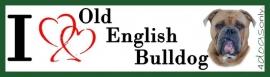 I LOVE Old English Bulldog Fawn OP=OP